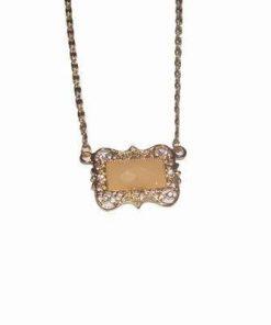 Colier auriu, placat cu aur, pentru cei nascuti duminica
