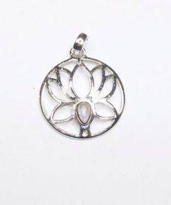 Lotus din argint 925 cu cristal de piatra luni