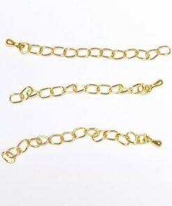 Set de 3 prelungiri pentru bratara sau colier aurii