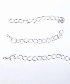 Set de 3 prelungiri pentru bratara sau colier argintii