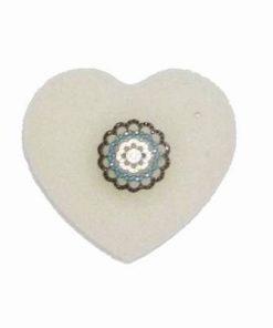 Inel din argint 925 cu mandaka fericirii si spinel,turcoaz