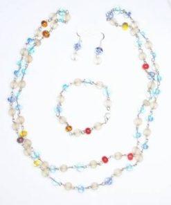 Set din Murano cu cristale multicolore