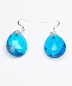Cercei din cristal transparent albastru
