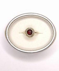 Inel din argint 925 cu cristal de granat