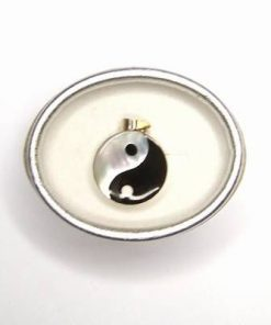 Pandantiv din argint 925 cu Yin Yang din sidef