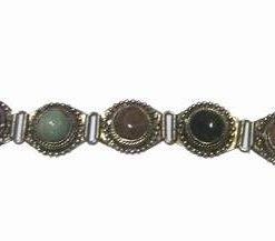 Bratara vintage din metal cu 5 cristale