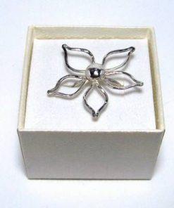Inel din argint cu Floarea Vietii, lucrat manual