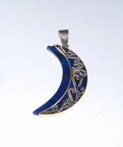 Pandantiv din argint 925 cu scoica marina albastra