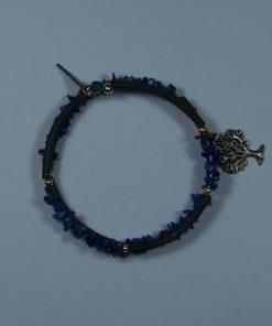 Bratara din lapis lazuli si copacul vietii + aripa de ingeri