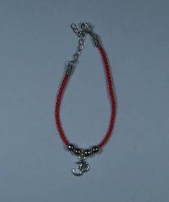 Bratara pe snur rosu cu simbolul Tao/Om pentru protectie