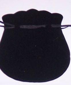 Saculet din catifea neagra pentru cadouri