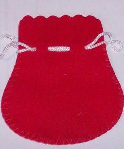 Saculet din catifea rosie pentru cadouri