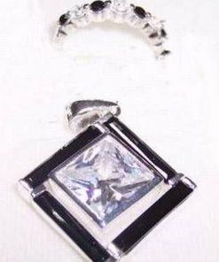 Set de bijuterii din argint cuturmal si cristale transparent