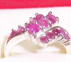 Inel din argint cu rubin - model deosebit si unicat !
