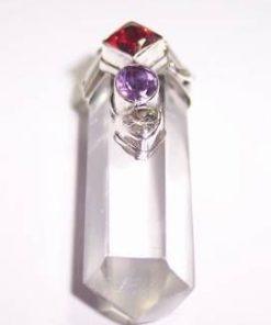 Pandantiv din cristal de stanca cu mix de cristale - unicat