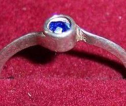 Inel din argint cu cuart albastru - unicat!