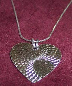Pandantiv din argint in forma de inima - model unicat !