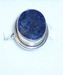 Inel din argint cu safir - model deosebit