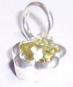Pandantiv din argint cu cristale de olivina!