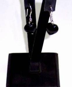 Cercei din argint si obsidian curcubeu - model deosebit!