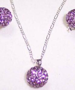 Set de bijuterii din argint si cristale multifatetate - unic