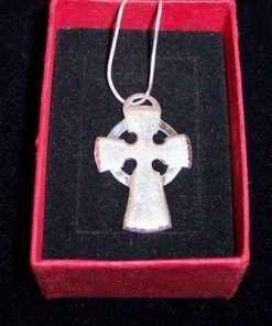 Cruce din argint pe lantisor din argint