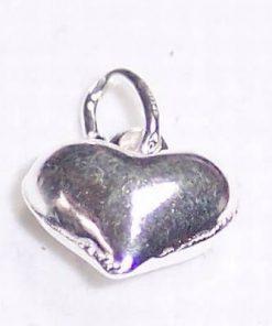Pandantiv din argint in forma de inima - unicat!