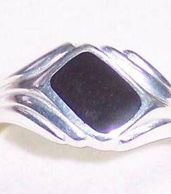 Inel din argint cu onix - model barbatesc