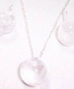 Set  bijuterii din argint si cristal de stanca - unicat!