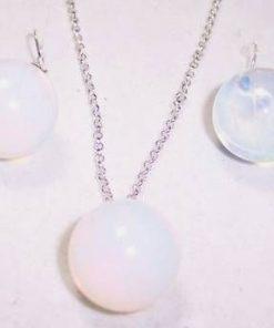 Set de bijuterii din argint si cristal de opal - unicat!