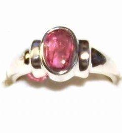 Inel din argint si cristal de turmalina roz -  deosebit!