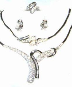 Set de bijuterii din argint rodiat - pentru ocazii speciale!