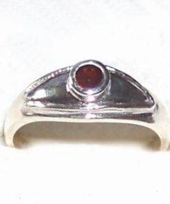 Inel din argint rodiat cu cristal de granat - model unicat!