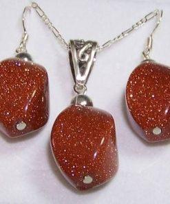 Set de bijuterii din argint si piatra soarelui - unicat!