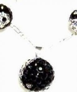 Set de bijuterii cu Yin-Yang si Swarovski - model unicat!