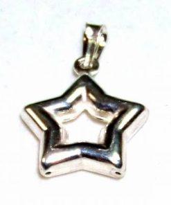 Pentagrama magica stilizata, din argint - model unicat!