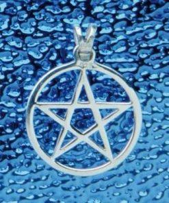Pentagrama magica din argint - pandantiv - mediu