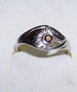Inel din argint cu cristal de granat - unicat!