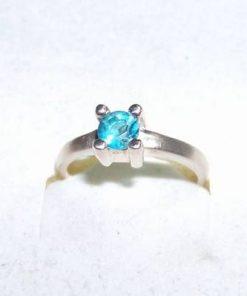 Inel din argint cu cristal Swarovski - bleu