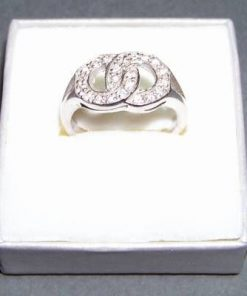 Inel din argint cu cristale Swarovski - cifra 8