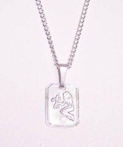 Pandantiv din argint pentru femei - Fecioara