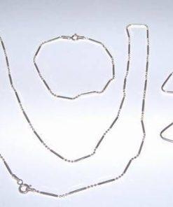 Set din argint - colier, bratara si cercei