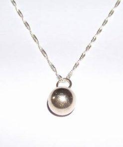 Pandantiv din argint in forma de sfera pe lant din argint