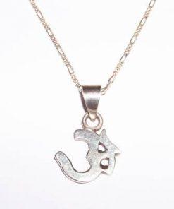 Simbolul Om/Tao din argint pe lant din argint - unisex