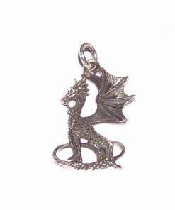 Dragonul imperial din argint pentru noroc de bani