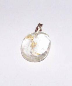 Pandantiv din topaz cu agatatoare din argint