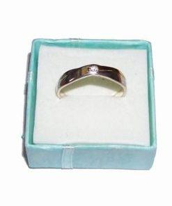 Inel din argint cu cristal Swarovski si model din auriu