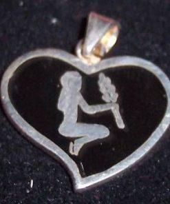 Pandantiv unisex din argint - Fecioara
