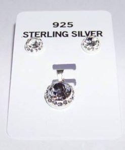 Setul anului din argint cu cristale Swarovski