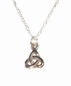 Simbol celtic din argint pe lant din argint